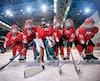 Youth hockey team - children play hockey