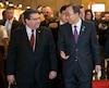 Le secrétaire général des Nations-Unies Ban Ki-moon a répondu aux questions des journalistes, hier, lors de la visite au Centre de prévention de la radicalisation menant à la violence. Il était accompagné du maire de Montréal Denis Coderre et du président du Centre Herman Deparice Okomba.