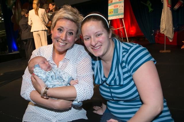 Ève-Marie Lortie et Vicky Rainguette lors du Salon Maternité Paternité Enfants.