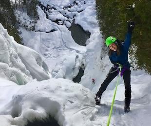 Descendez une chute glacée de 41 mètres