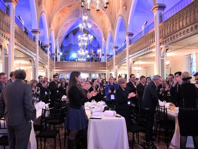 Près de 800 personnes ont participé aux célébrations du premier anniversaire de Je fais Mtl au Salon 1861. La transformation de cette ancienne église de la Petite Bourgogne fait partie de la liste des 181 projets du mouvement Je fais Mtl.
