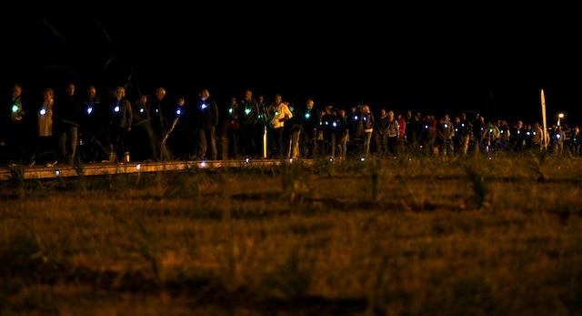 La communauté de Lac-Mégantic rendait hommage aux victimes de la tragédie, disparues l'an dernier, lorsqu'un train a explosé durant la soirée du 6 juillet 2013.