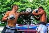 Le Québécois Dave Leduc a gagné un combat de boxe contre un prisonnier thailandais lors d'un affrontement de <i>Prison fight<i/> organisé dans un pénitencier à proximité de Bangkok en juillet dernier.
