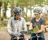 Sur un site de camping «Bienvenue cyclistes !» au parc national de la Yamaska.