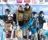 Deux skieurs québécois ont trouvé leur place sur le podium à Ruka: Mikaël Kingsbury partage la plus haute marche avec l'Australienne Britteny Cox, alors qu'Audrey Robichaud (à gauche) occupe la deuxième avec le Kazakh Dmitriy Reikherd.