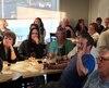 Des partisans de Maxime Bernier s'étaient rassemblés dans un restaurant de Saint-Georges-de-Beauce, samedi.