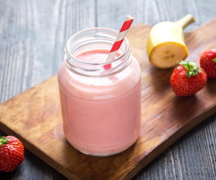 Smoothie crémeux goyave et fraises