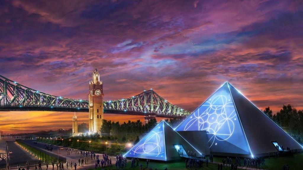 Une pyramide au Vieux-Port de Montréal avec des spectacles immersifs!
