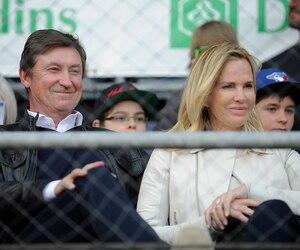 Wayne Gretzky et sa célèbre épouse Janet Jones.