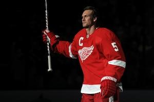 L'ancien capitaine des Red Wings de Detroit, Nicklas Lidstrom.