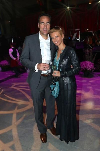 Pierre Dion en compagnie de Geneviève Primard lors de la soirée bénéfice animée par Rémy Girard.