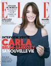 Carla Bruni fait la couverture du Elle en France, cette semaine.