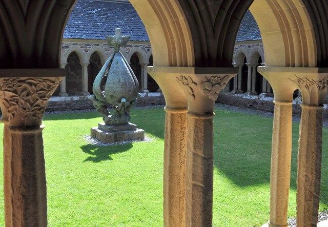 Le cloître de l'abbaye de Iona.