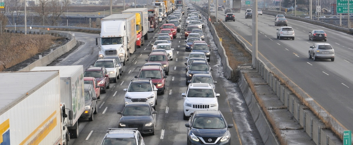 Congestion monstre pour entrer à Montréal