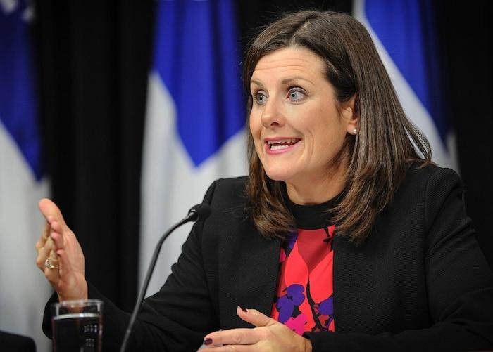 La ministre de la Justice du Québec, Stéphanie Vallée.