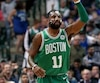 Kyrie Irving a inscrit 47 pointslors du Match opposant les Celtics de Boston au Mavericks de Dallas.