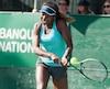 Françoise Abanda voudra atteindre le tableau principal du US Open vendredi.