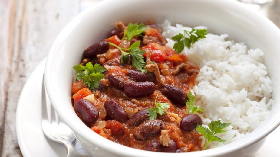 Chili au poulet et haricots rouges