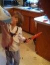 La photo d'un jeune garçon accoutré comme le meurtrier Guy Turcotte a fait le tour des réseaux sociaux la semaine dernière.
