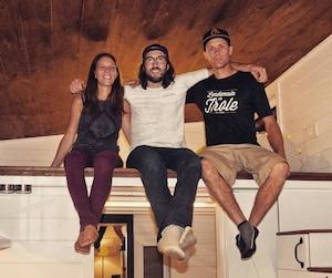 Elyse, Philippe et Jean-Philippe, les trois actionnaires de Minimaliste