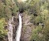 Le tronçon pédestre Mestachibo mène aux chutes Jean-Larose, près du mont Sainte-Anne.