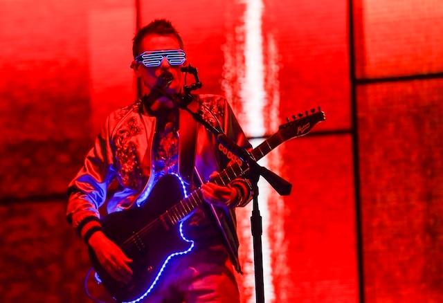 Le groupe rock Muse a fermé la 50e édition du Festival d'été de Québec en donnant le dernier concert sur les plaines d'Abraham, dimanche.