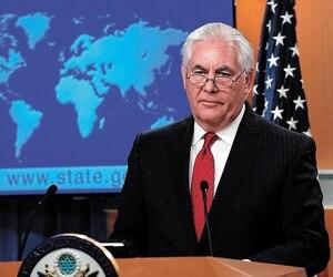 Rex Tillerson s'est fait montrer la porte, hier, par le président Donald Trump. Le secrétaire était encore sous le choc lors d'un court point de presse à Washington.