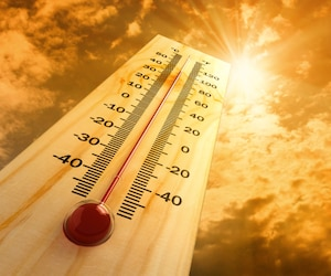 Bloc climat réchauffement température chaud chaleur