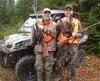 Roger Ouellet (à gauche) et Marc-André Tremblay étaient plutôt heureux de leur séjour de chasse en quad dans la réserve faunique de Portneuf.