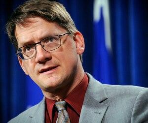 Le chef par intérim du Parti québécois, Sylvain Gaudreault
