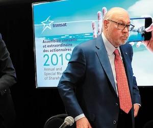 Le grand patron de Transat, Jean-Marc Eustache (au centre), a surpris tout le monde, le 30 avril dernier, en annonçant des discussions qui pourraient mener à la vente de l'entreprise.