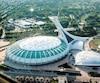 Le nom du Stade olympique de Montréal (photo) pourrait devoir être changé le temps que se tienne la Coupe du monde de soccer.
