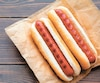 Barbecue Grilled Hot Dog on wooden table