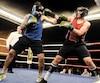 Un autre combat a opposé Alex Tremblay en rouge à Jason Maheux en bleu.
