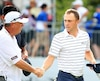 Justin Thomas et son caddie Jimmy Johnson