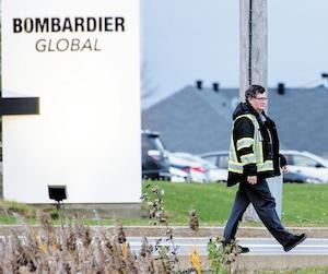 Les mines des travailleurs de Bombardier étaient basseslors du passage du Journal à l'usine de Dorval.