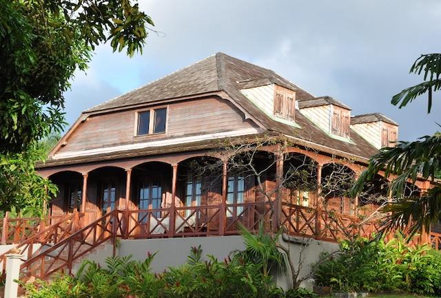 La belle maison d'hôtes Le Jardin Malanga, presque centenaire.