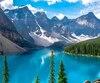 Le lac Moraine se veut un véritable paysage de carte postale