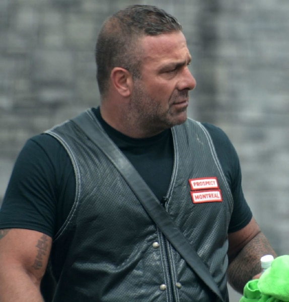 Daniel André Giroux, récemment photographié alors qu'il était toujours candidat de la division des Hells de Montréal.