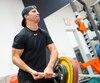 Antoine Roussel a été photographié le 14août lors d'un entraînement au Centre d'excellence Sports Rousseau de Boisbriand.