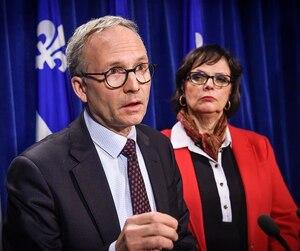 Les ministres Martin Coiteux et Lucie Charlebois