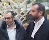 Le président du Centre islamique de Québec, Mohamed Yangui. et l'avocat des victimes, Me Jean-Félix Charbonneau.