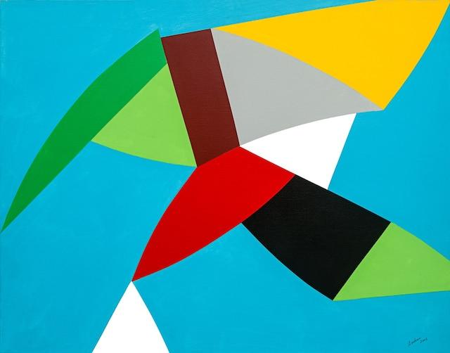 """Calme vertige, acrylique sur toile -  65 x 81 cm/ 26"""" x 32"""", 2002."""