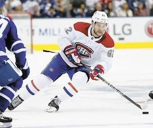 Jonathan Drouin a disputé un solide match samedi contre les Maple Leafs à Toronto.