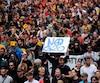 Manifestation lors du G20 en Allemagne en 2017.