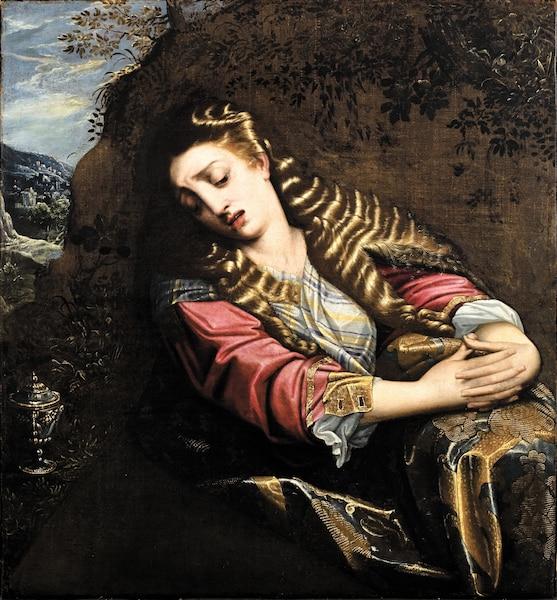 <b><i>Artiste inconnu</i></b><br /> <b>1650 - Huile sur toile - 85,5 x 78cm</b><br /> Collection Wilfrid Corbeil. Don des Clercs de Saint-Viateur du Canada.