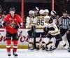 Ce sont des buts de Sean Kuraly (52), d'abord en deuxième période pour créer une égalité de 2 à 2, puis en deuxième période de prolongation, qui ont permis aux Bruins d'éviter l'élimination, hier soir à Ottawa.