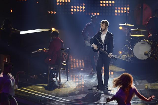 La grande finale de «La Voix» a eu lieu le 13 avril 2014 à Montréal. Sur la photo, Yoan de l'équipe d'Isabelle Boulay.