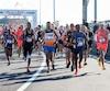 Le Marathon de Montréal a annulé son épreuve de 42,2 kilomètres en raison de la chaleur prévue dimanche. Sur la photo, des coureurs lors de la course de 2016.
