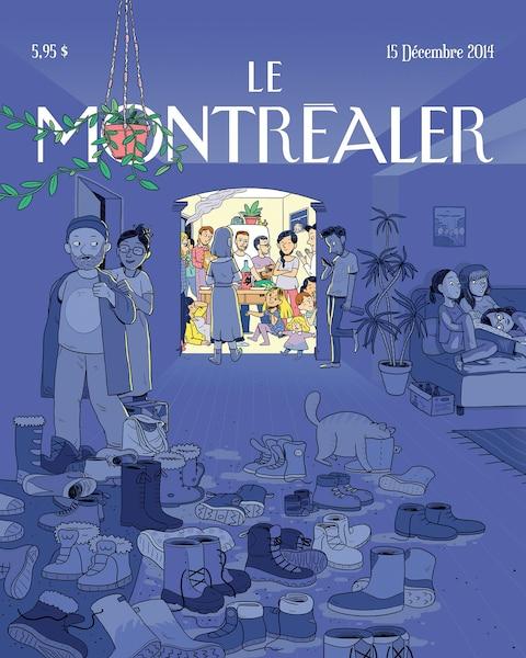 Aurélie Grand – 15décembre 2014<br /> Les créateurs se sont inspirés des caractéristiques de Montréal: «hivernale, multiculturelle, accueillante, festive, ouverte, moderne et paradoxale».
